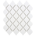SomerTile 11x9.75-inch Casablanca Matte White Porcelain Mosaic Tiles (Set of 10)