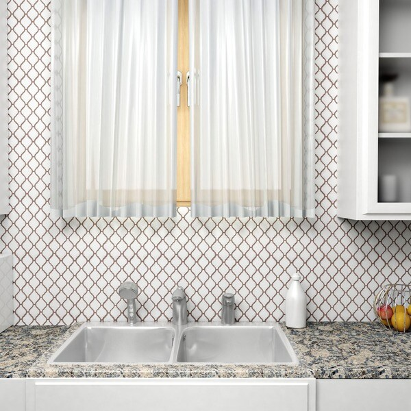 75x11 Inch Casablanca Matte White Porcelain Mosaic Floor And Wall Tile