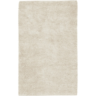 Hand-woven Benevento Winter White Colorful Plush Shag New Zealand Felted Wool Rug (9' x 13')