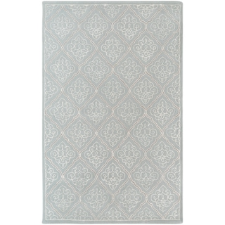 Candice Olson Hand-tufted Marano Dove Grey Geometric Wool Rug (9' x 13')