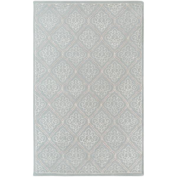 Candice Olson Hand-tufted Marano Dove Grey Geometric Wool Rug (9' x 13')