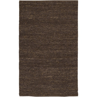 Hand-woven Faenza Grape Natural Fiber Jute Rug (3'6 x 5'6)