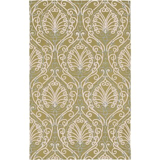 Candice Olson Hand-tufted Legnano Avocado Botanical Pattern Wool Rug (9' x 13')