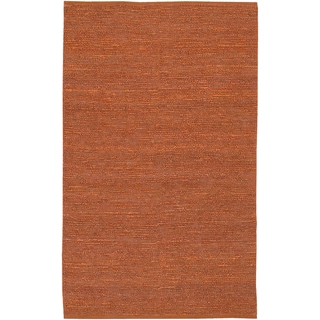 Hand-woven Manfredonia Burnt Orange Natural Fiber Jute Rug (3'6 x 5'6)