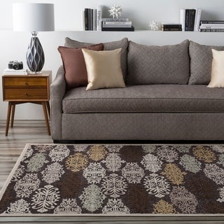 Hand-woven Lumina Chocolate Damask Area Rug (8'8 x 12')