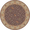 Hand-tufted Passat Brown Wool Rug-(4' Round)