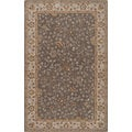 Hand-tufted Passat Brown Wool Rug-(5' x 8')