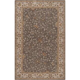Hand-tufted Passat Brown Wool Rug-(7'6