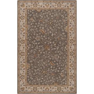 Hand-tufted Passat Brown Wool Rug-(9' x 12')