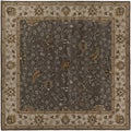"Hand-tufted Passat Brown Wool Rug-(9'9"" Square)"