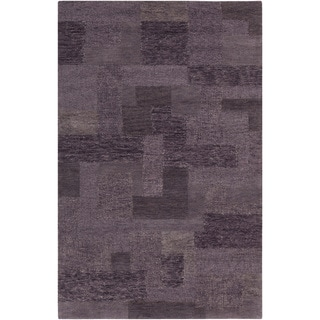 Hand-tufted Daewoo Purple Sage Geometric Wool Rug-(8' x 11')