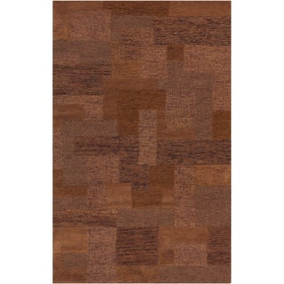 Hand-tufted Xenia Russet Geometric Wool Rug (8' x 11')