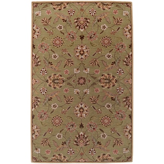 Hand-tufted Bisceglie Army Green Wool Rug (3'3 x 5'3)
