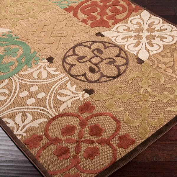 Trani Brown Sugar Indoor/Outdoor Moroccan Tile Rug (7'10 x 10'8)