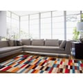 Hand-tufted Anderlecht Multicolor Geometric Rug (5' x 8')