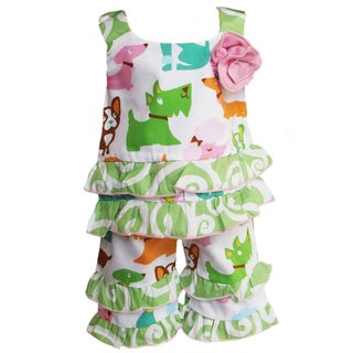 AnnLoren 2-piece Puppy Dog printed Tunic & Capri Set for American Girl Doll