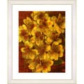 Studio Works Modern 'Alstroemenia - Yellow' Framed Print