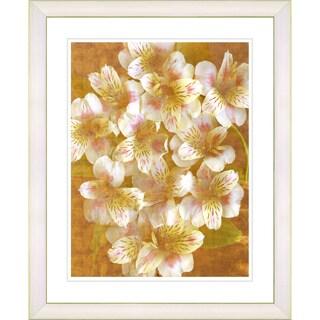Studio Works Modern 'Alstroemenia - White' Framed Print