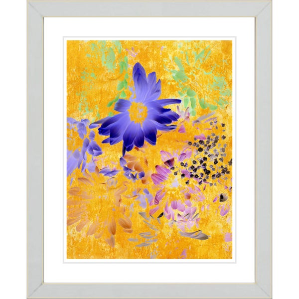 Studio Works Modern 'Daisy Cups - Yellow' Framed Print