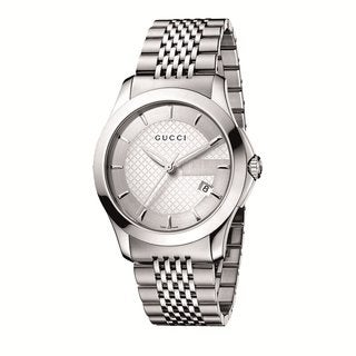 Gucci Men's Stainless Steel G-Timeless Watch