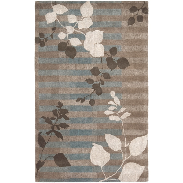 Hand-tufted Marrakech Grey New Zealand Wool Rug (3'3 x 5'3)