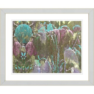Studio Works Modern 'Garden Ephemera - Green' Framed Print