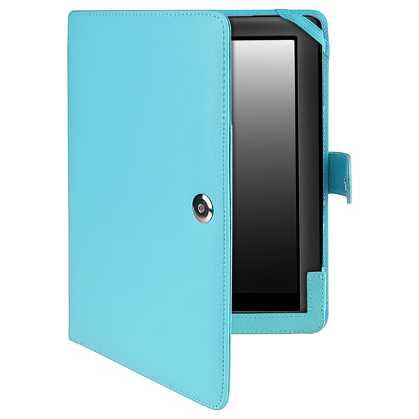 BasAcc Light Blue Leather Case for Barnes & Noble Nook HD+