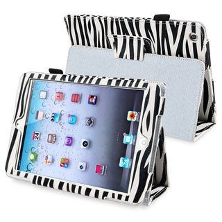 BasAcc Black/ White Zebra Leather Case with Stand for Apple iPad Mini