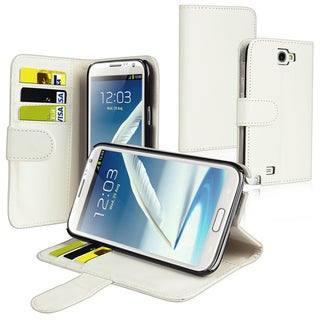 BasAcc Wallet Case with Card Holder for Samsung Galaxy Note II N7100
