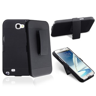 BasAcc Black Swivel Holster/ Stand for Samsung Galaxy Note II N7100