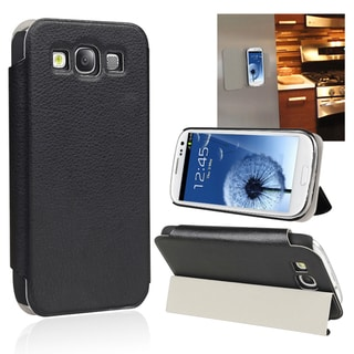 BasAcc Black Flip Leather Case/ Stand for Samsung Galaxy S III i9300