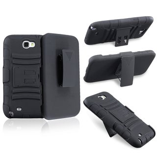 BasAcc Black Hybrid Holster/ Stand for Samsung Galaxy Note II N7100