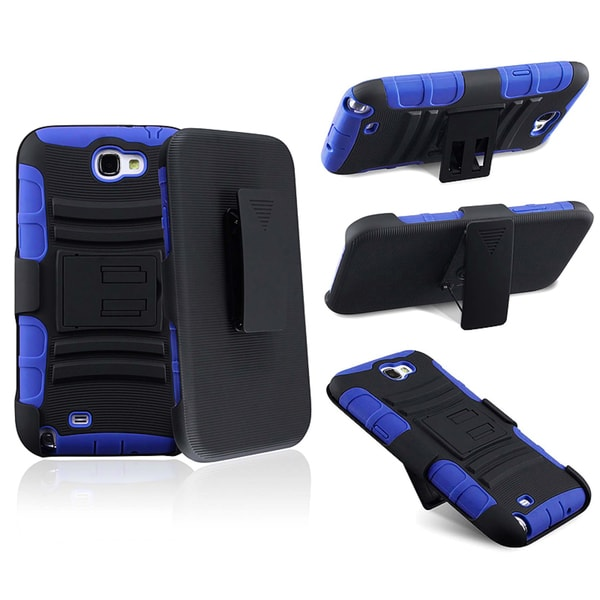 BasAcc Blue/ Black Hybrid Holster for Samsung Galaxy Note II N7100