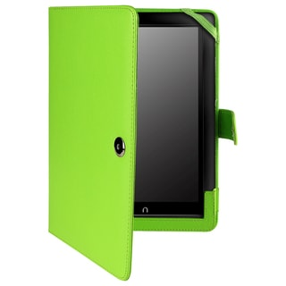 BasAcc Green Leather Case for Barnes & Noble Nook HD+