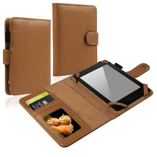 BasAcc Brown Leather Case with Card Slots for Amazon Kindle Paperwhite