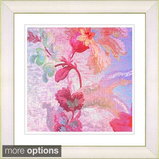 Studio Works Modern 'Flowers of Okavango - Red' Framed Print