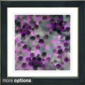 Studio Works Modern 'Popcorn Floral - Purple' Framed Print