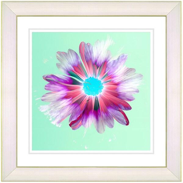 Studio Works Modern 'Snowflake Daisy - Mint' Framed Print