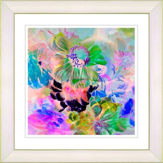 Studio Works Modern 'Dew Flowers' Framed Print