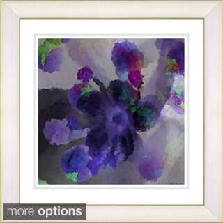 Studio Works Modern 'Floral Study - Blue' Framed Print