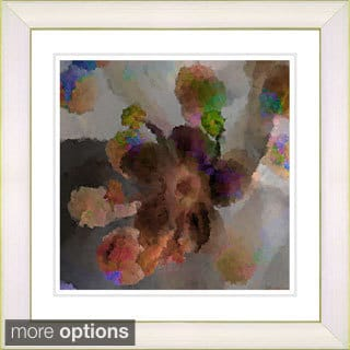 Studio Works Modern 'Floral Study - Orange' Framed Print