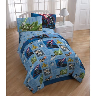 Star Wars 'Cartoon' 5-piece Bed in a Bag with Sheet Set