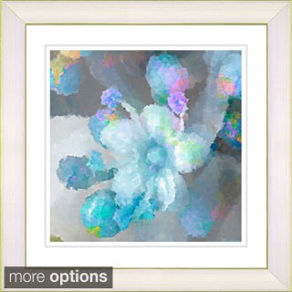 Studio Works Modern 'Blue Pearl Flower' Framed Print