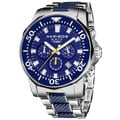 Akribos XXIV Men&#39;s Stainless Steel Divers Chronograph Watch
