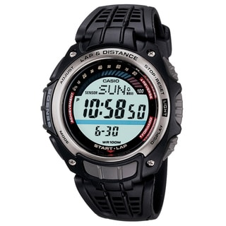 Casio Men's 'Lap & Distance' Pedometer Sport Watch
