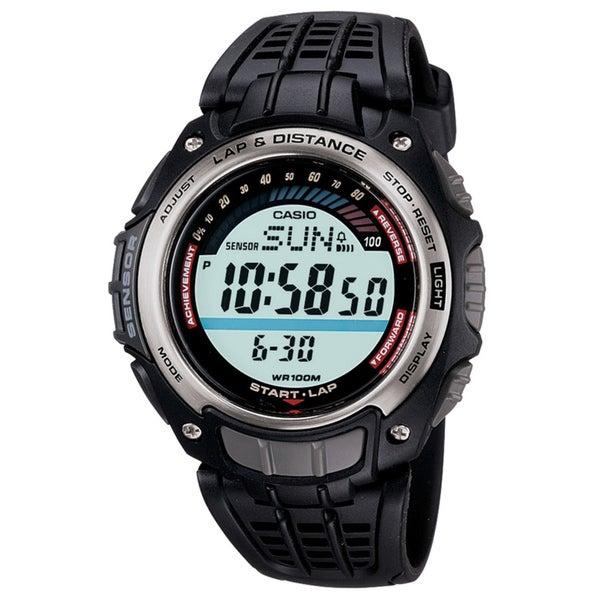 Casio Men's 'Lap & Distance' Pedometer Sport Watch