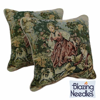 Tapestry Corded In the Park Throw Pillows (Set of 2)