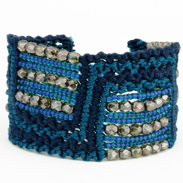 Marisol 'Blue Lagoon' Macrame Bracelet (Guatemala)