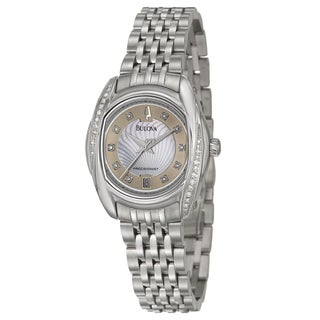 Bulova Women's Stainless Steel 'Precisionist' Diamond Watch