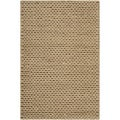 Handwoven Attert Tan New Zealand Wool Soft Braided Texture Rug (3' x 5')